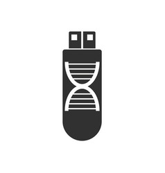 Black icon on white background dna memory vector