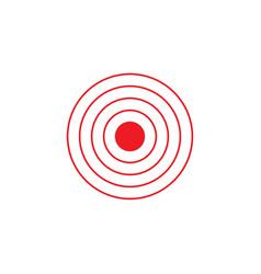 bright red circles logo vector image