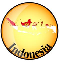Button Indonesia vector