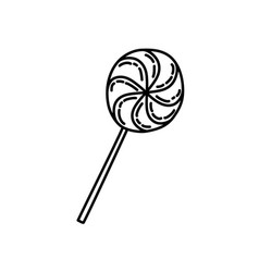 candy icon doddle hand drawn or black outline vector image