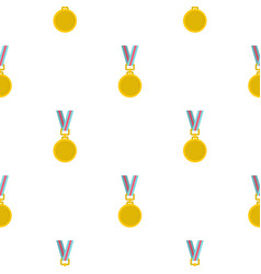 Cat medal pattern seamless vector