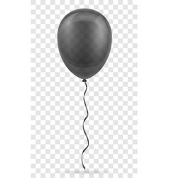 Celebratory transparent black balloon pumped vector