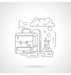 Chemistry lessons detailed line icon vector image