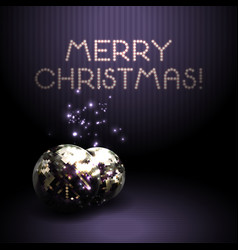 christmas background with shiny volumetric balls vector image