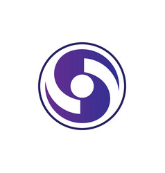 circle swirl business logo vector image
