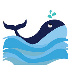 Clipart a blue-colored whale swimming in the vector