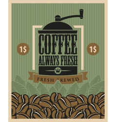 Coffee fresh vector image