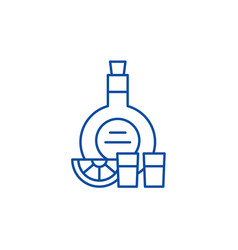 cognac line icon concept cognac flat vector image