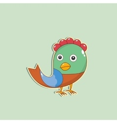 color Christmas Bird vector image