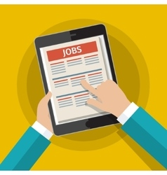 Concept of job searching vector