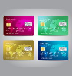 Credit cards set vector