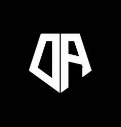 da logo monogram with pentagon shape style design vector image