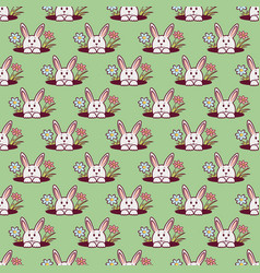 easter bunny seamless pattern2 vector image
