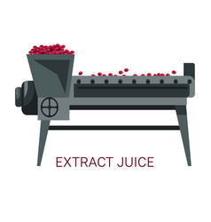 extract juice grapes squeezing winemaking industry vector image
