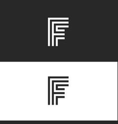 F letter monogram identity logo minimal style vector