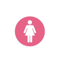 female gender icon graphic design template vector image