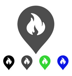 Fire marker flat icon vector
