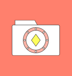 Flat icon design collection casino chip on folder vector