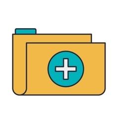 folder medical with shape cross vector image