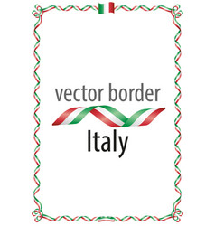 Frame and border of ribbon with the colors italy vector