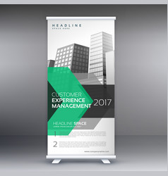 Geometric roll up banner design template for your vector