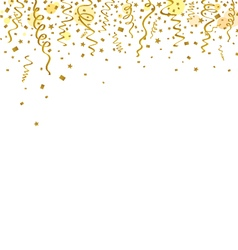 Gold ribbons background vector image