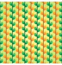Green and orange leafs pattern vector