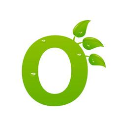 green eco letter o illiustration vector image