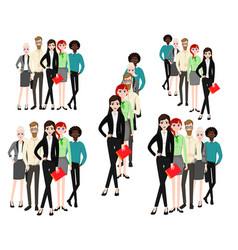 Group working people on white background vector