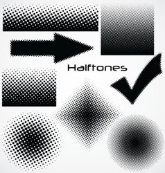 Halftone dot - set for your design vector