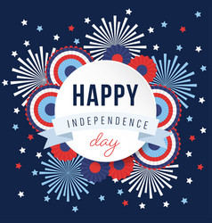 Happy independence day 4th july national holiday vector