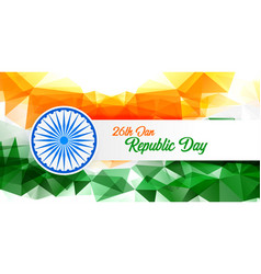 Happy republic day abstract indian flag background vector