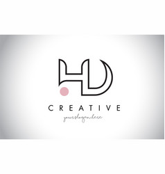 hd letter logo design with creative modern trendy vector image