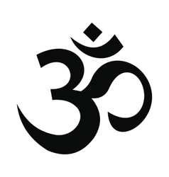 Hindu om symbol icon simple style vector