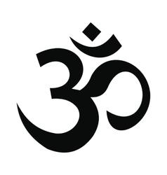Hindu om symbol icon simple style vector image