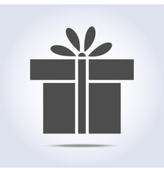 Icon of present box vector