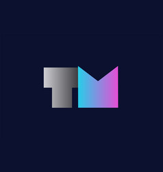 Initial alphabet letter tm t m logo company icon vector