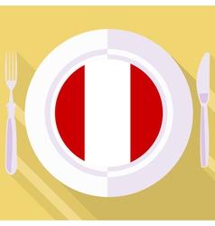 kitchen of Peru vector image