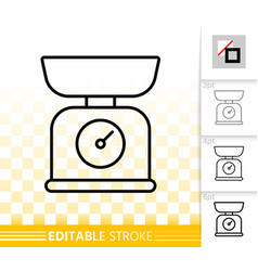 kitchen scale simple black line icon vector image