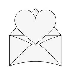 love letter symbol vector image
