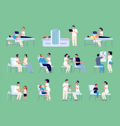 medical characters doctors nurses patients vector image