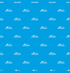 metal company pattern seamless blue vector image
