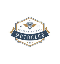 Moto club logo template design element vector