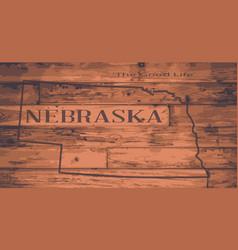 Nebraska map brand vector