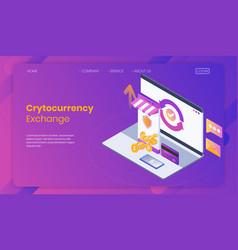 online crytocurrency exchange concept vector image