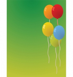 party balloons background vector image