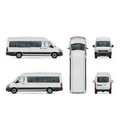 passenger van template vector image
