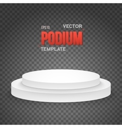 Photorealistic Winner Podium Stage Template vector image