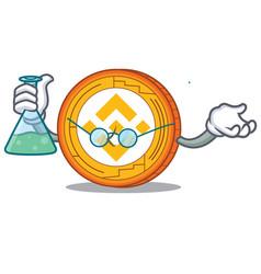Professor binance coin character catoon vector