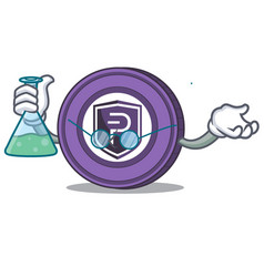 Professor pivx coin character cartoon vector